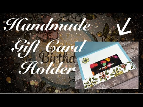How to make a Birthday Card with Gift Card Holder