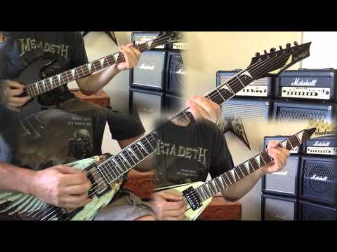 Megadeth - Tornado of Souls Guitar and Bass Cover (No Backing Track)