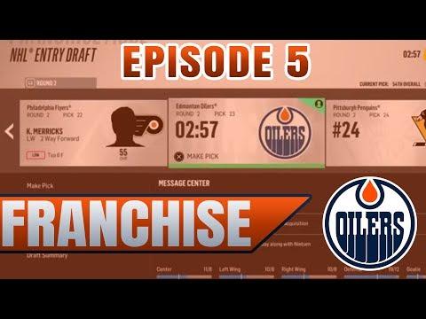 MY BEST DRAFT YET!!! PLUS DEPTH TRADE!! | NHL 18 Edmonton Oilers GM / Franchise Mode Ep 5