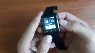 обзор комплектации. Смарт часы U80 Black c Bluetooth