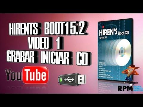 Hiren's BootCD 15 2 Video 1 Grabar Y Iniciar El CD