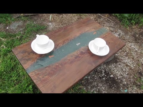 【#7】Making an Epoxy Resin and Wood Art Tee Table - Japanese koi & Goldfish -