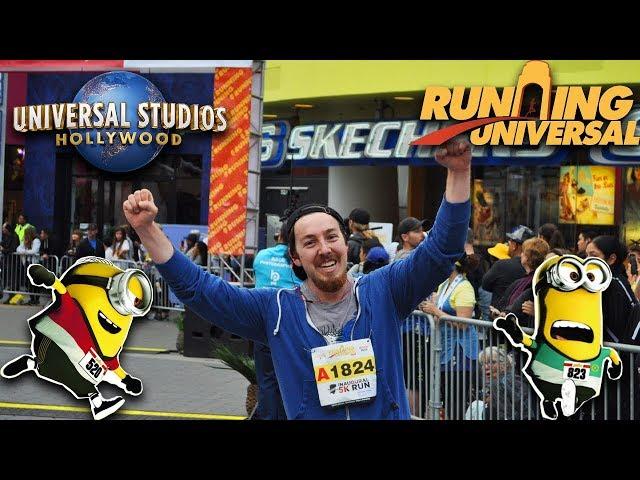 I RAN A 5K AT UNIVERSAL STUDIOS HOLLYWOOD! | RunningUniversal Minion Run