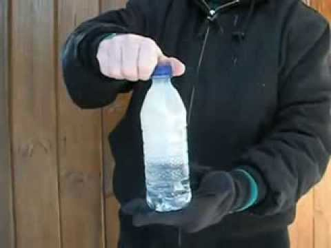 bottle of water freezes instantly youtube