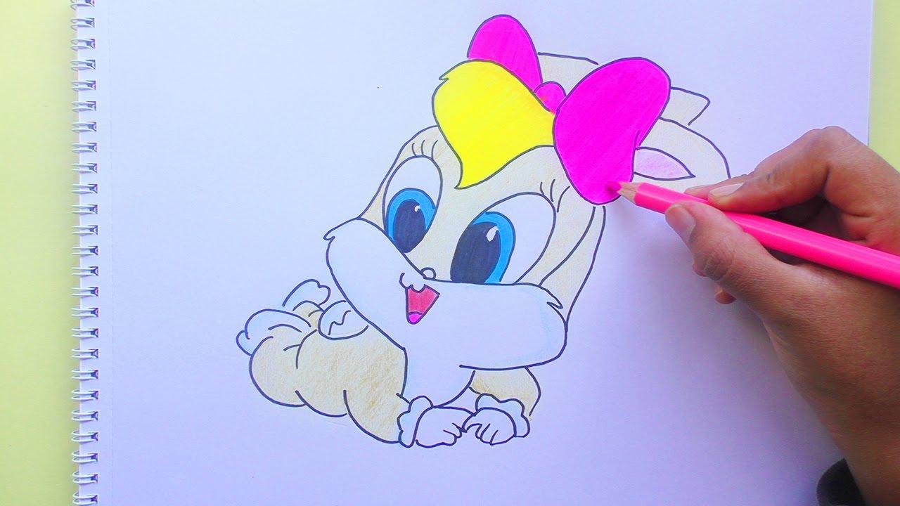 Dibujando Y Coloreando A Lola Bunny Looney Tunes