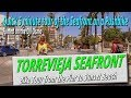 Bike Ride Tour of Torrevieja Sea Front from The Harbour to Sunset Beach Restaurant.
