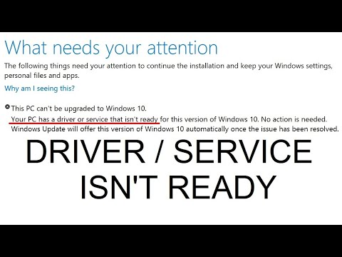 """Windows 10 20H1: Find out cause of """"Your PC has a driver or service that isn't ready"""" update error"""