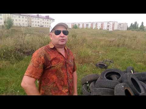 Покрышки утилизировали в поле возле жилых домов - 16-08-2019, Борисоглебск.