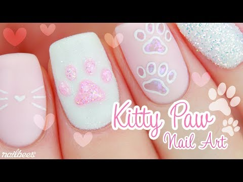 ♡ Kitty Paw Nail Art ♡