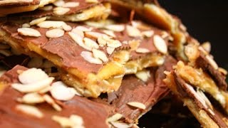 Saltine Toffee Candy Bar Recipe - Super Easy Homemade Toffee