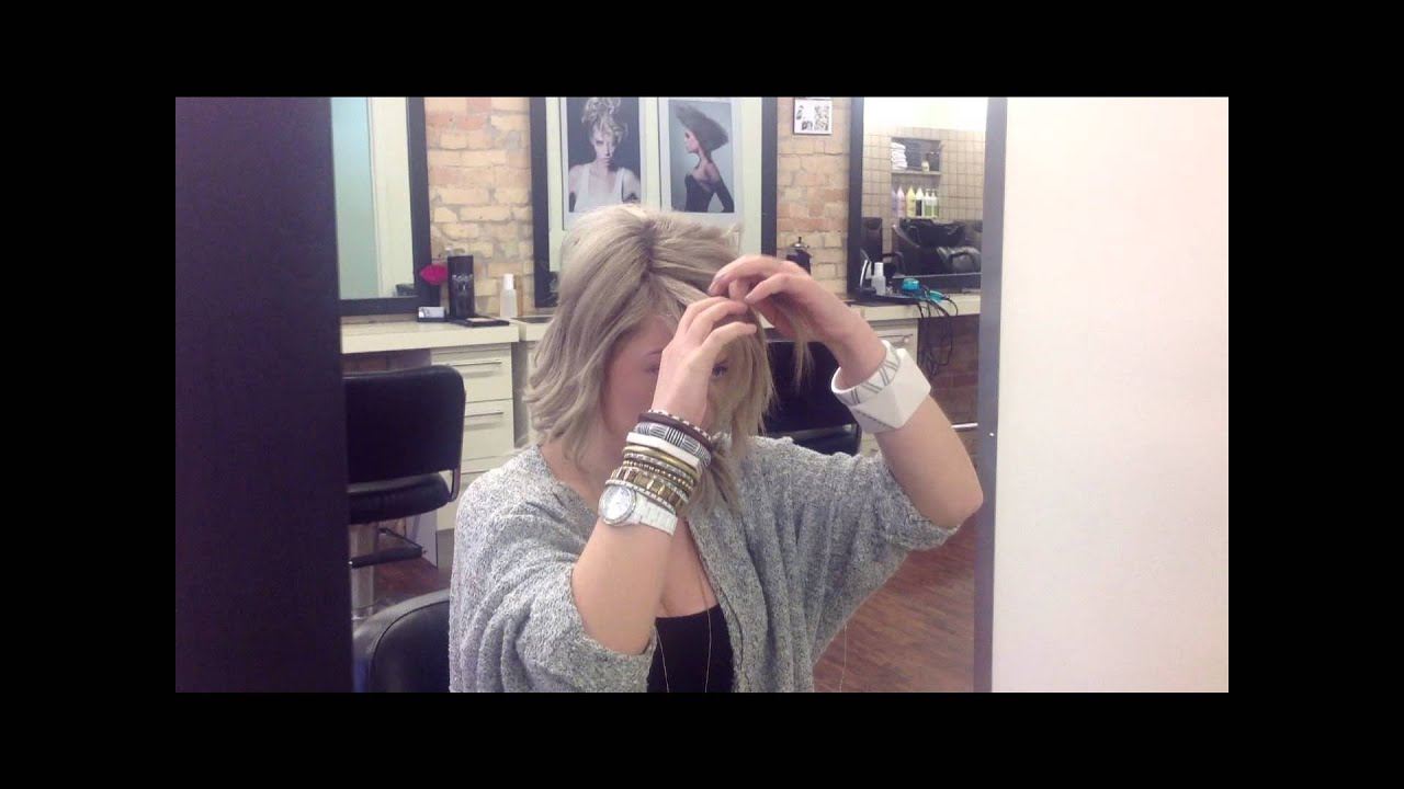 Courtney S Deceptively Easy Ways To Pin Back Bangs Youtube