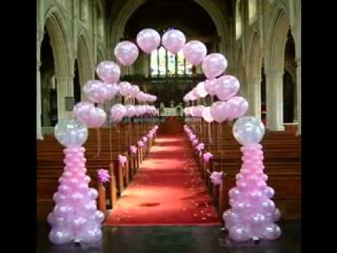 Simple wedding balloon decorating ideas youtube for Balloon decoration ideas for weddings