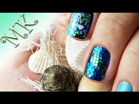 Чешуя дизайн ногтей