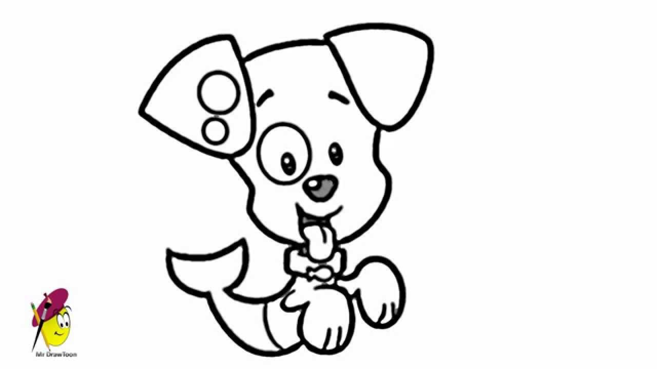 Uncategorized Easy Puppy Drawing puppy bubble guppies how to draw from youtube