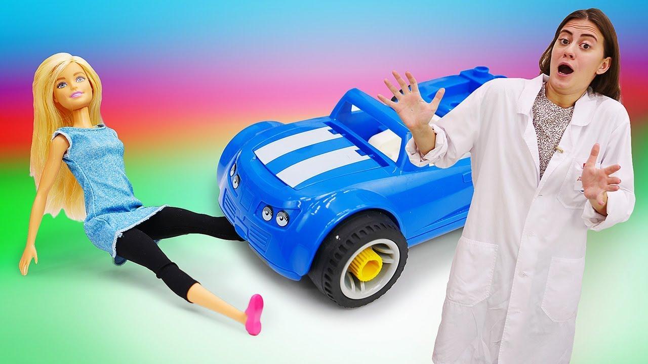 Видео про игрушки и машинки: Кукла Барби и Кен в больнице ...
