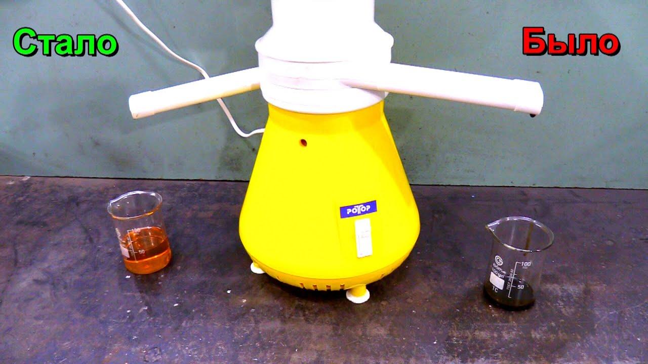 Самостоятельное очищение отработанного моторного масла для новой машины!