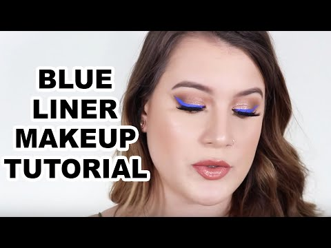 NEUTRAL EYE WITH INTENSE BLUE LINER TUTORIAL - YouTube