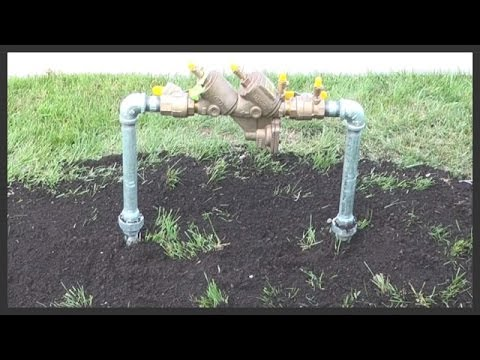 How To Replace A Lawn Sprinkler Backflow Preventer Youtube
