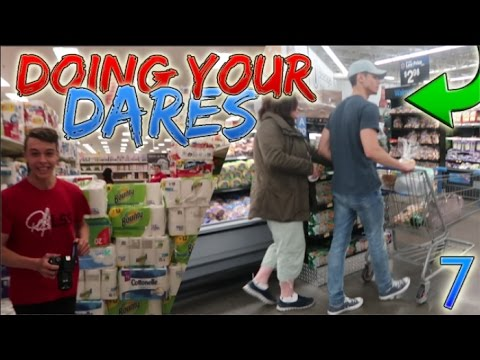 DOING YOUR DARES IN WALMART 7! (STEALING STRANGERS CARTS)