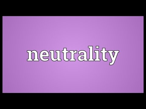 Neutrality Meaning