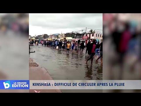 Kinshasa: Difficile de circuler après la pluie