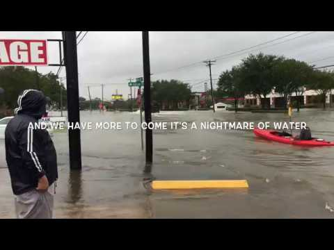 Hurricane Harvey 518 and I-45 League City TX