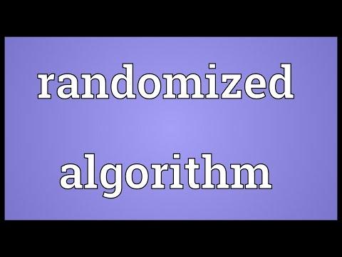 Randomized algorithm Meaning