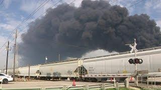 LIVE: Deer Park ITC fire burns