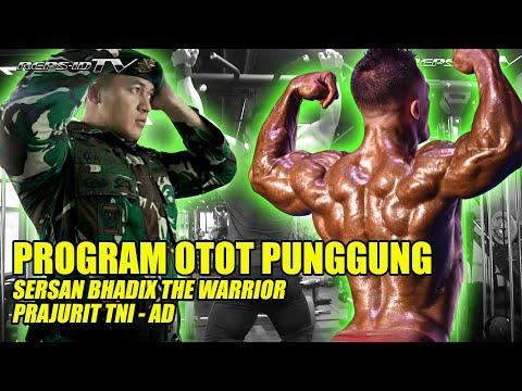 LATIHAN OTOT PUNGGUNG SERSAN BHADIX THE WARRIOR PRAJURIT TNI - TEAM SPORTISI INDONESIA