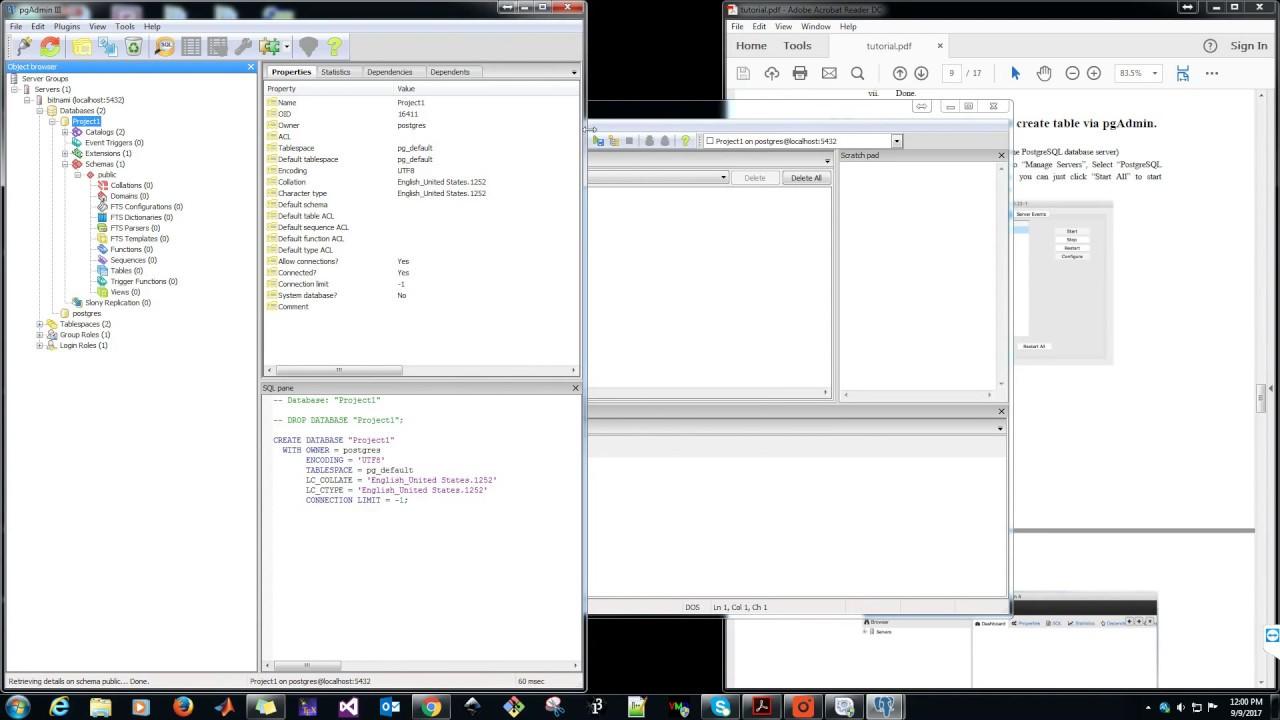 PgAdmin 3 tool on Windows