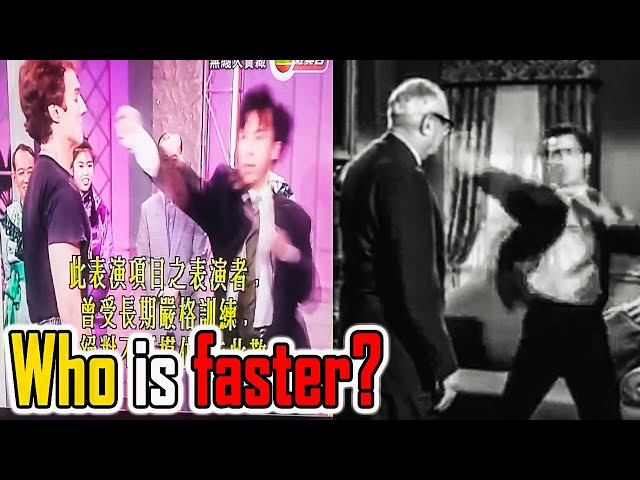 Bruce Lee vs Donnie Yen Speed Comparison - Who's faster?