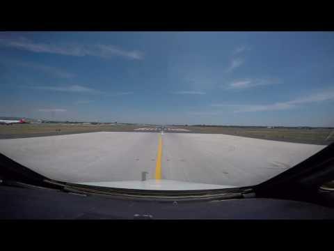 MD-80 Take off RWY 08 LICC Catania, Italy