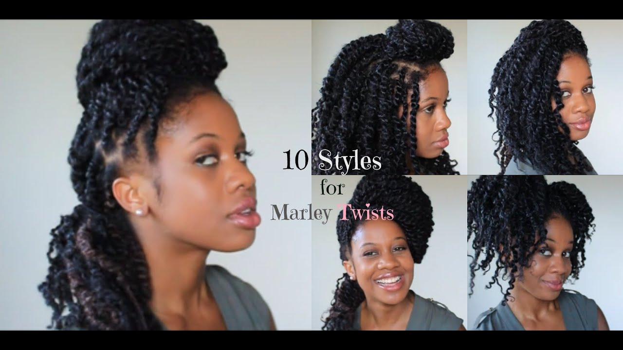 10 styles for marley twists - youtube
