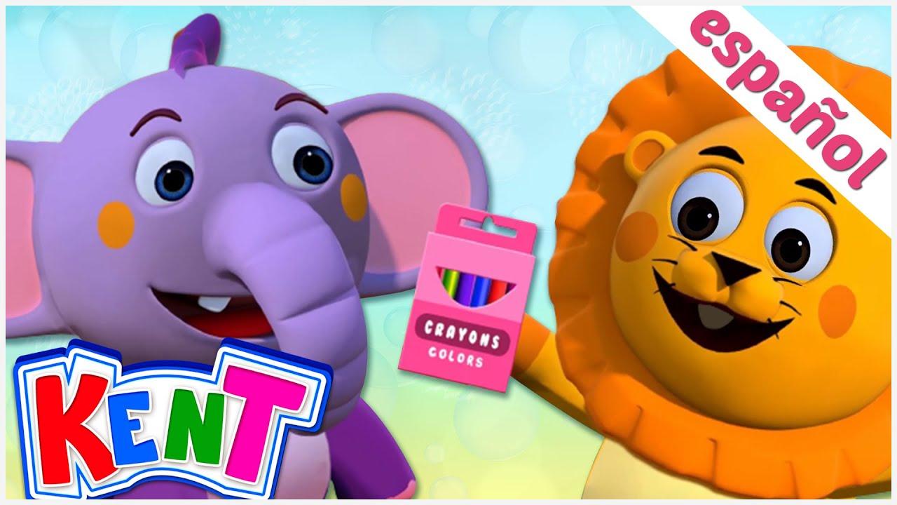 Kent el elefante   Canciones infantiles animadas   CAJA DE CRAYONES