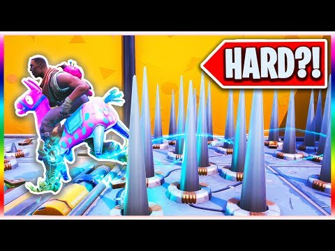 The Official NOOB Deathrun! - Easy or Hard for Defaults?! (Fortnite Creative Mode)