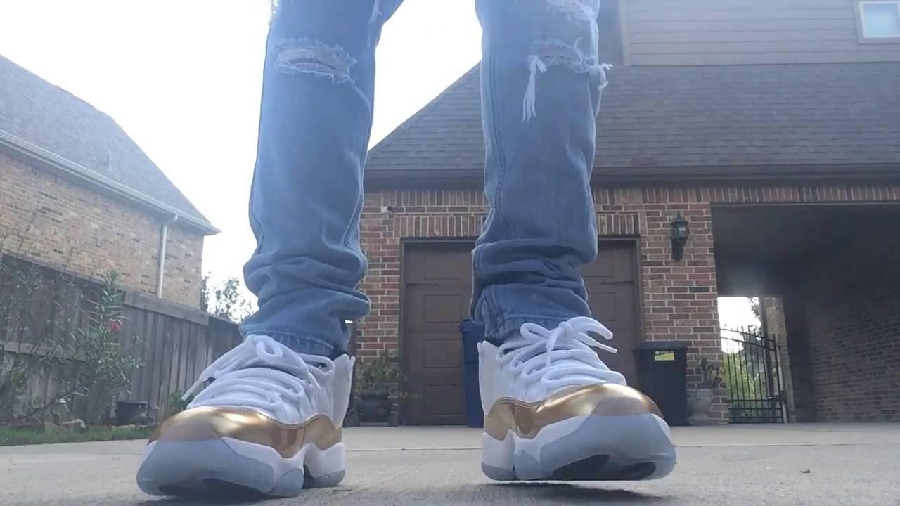 los angeles e1e1a ef026 Jordan 11 Retro Low Gold