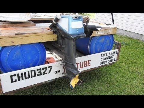 Homemade Pontoon Boat Update #6 Motor Install