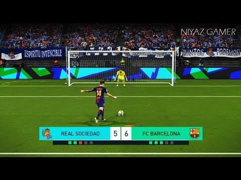 REAL SOCIEDAD vs FC BARCELONA | Penalty Shootout | PES 2018 Gameplay PC