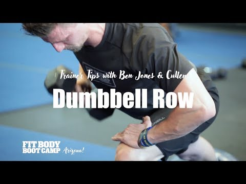 How to do a Dumbbell Lawnmower Row