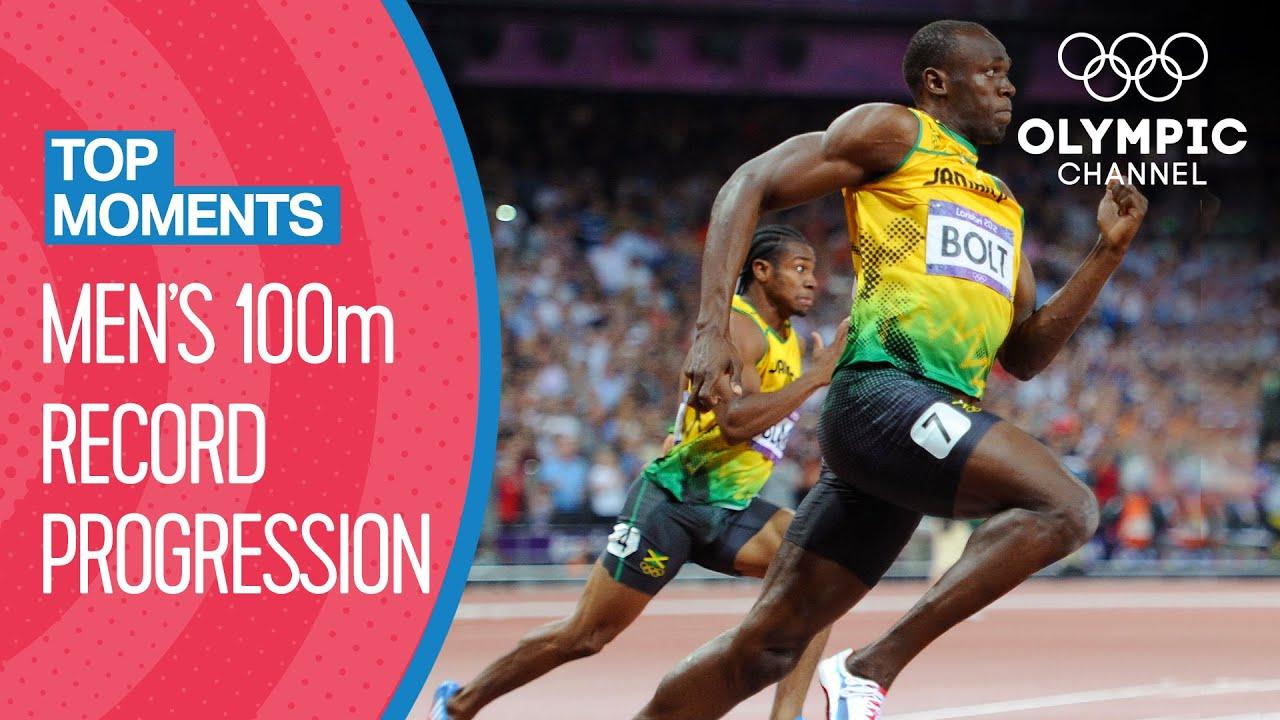 Streak ended 2016 rio de janeiro, brasil; All Men S 100m Olympic Records Top Moments Youtube