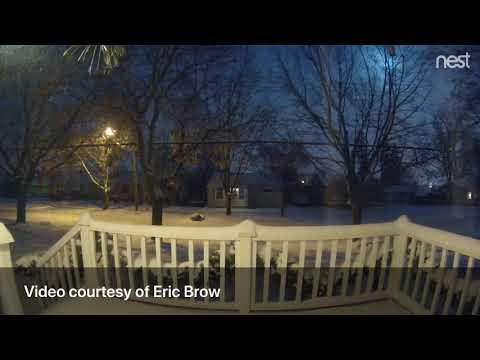Watch Michigan meteor shoot across sky on Flint's west side
