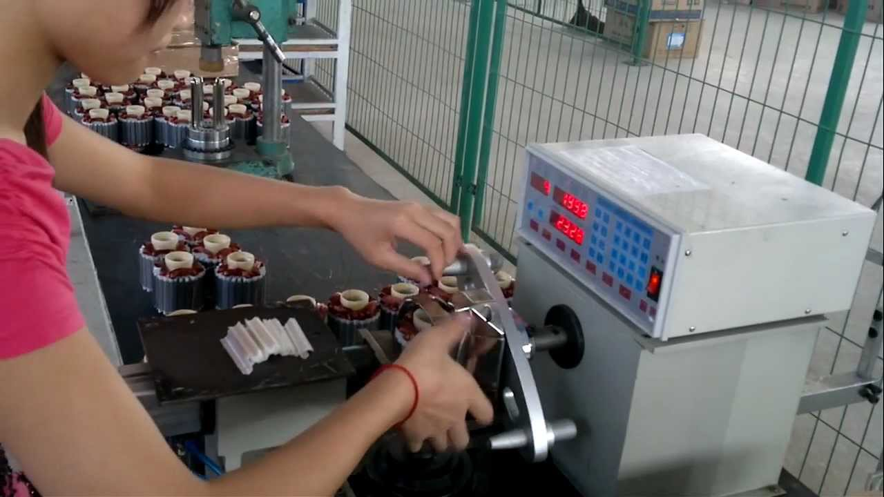 Fengda Automatic Motor Winding Machine For External Rotor Motor Youtube