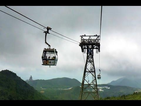 Hong Kong Lantau Island Ngong Ping 360 Cable Car 香港 大嶼山 昂坪 360 纜車上山全程 5.7 公里 一刀不剪