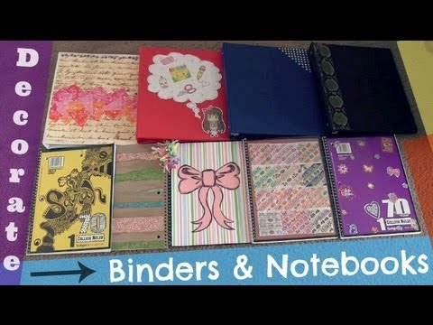 DECORATE BINDERS & NOTEBOOKS - Back To School How To | SoCraftastic