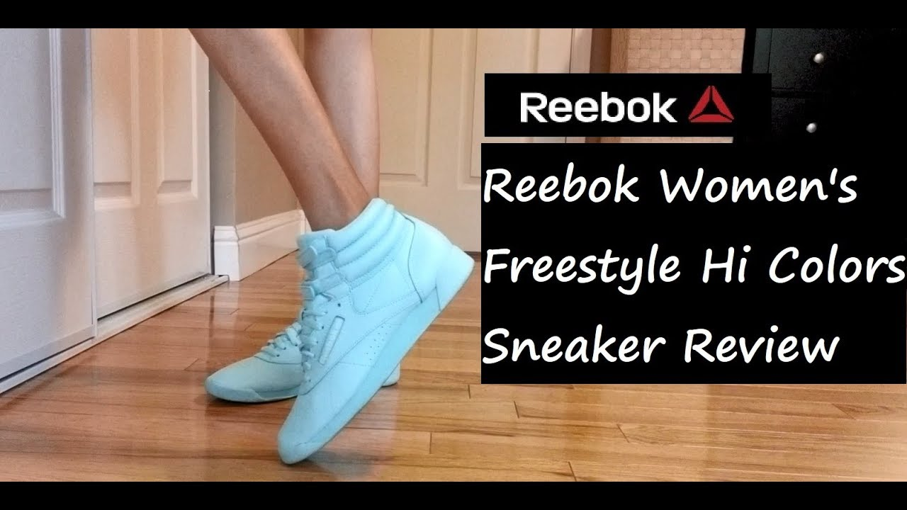 551ea9448d9ed Reebok Women s Freestyle HI Colors Sneaker Try On Review - YouTube