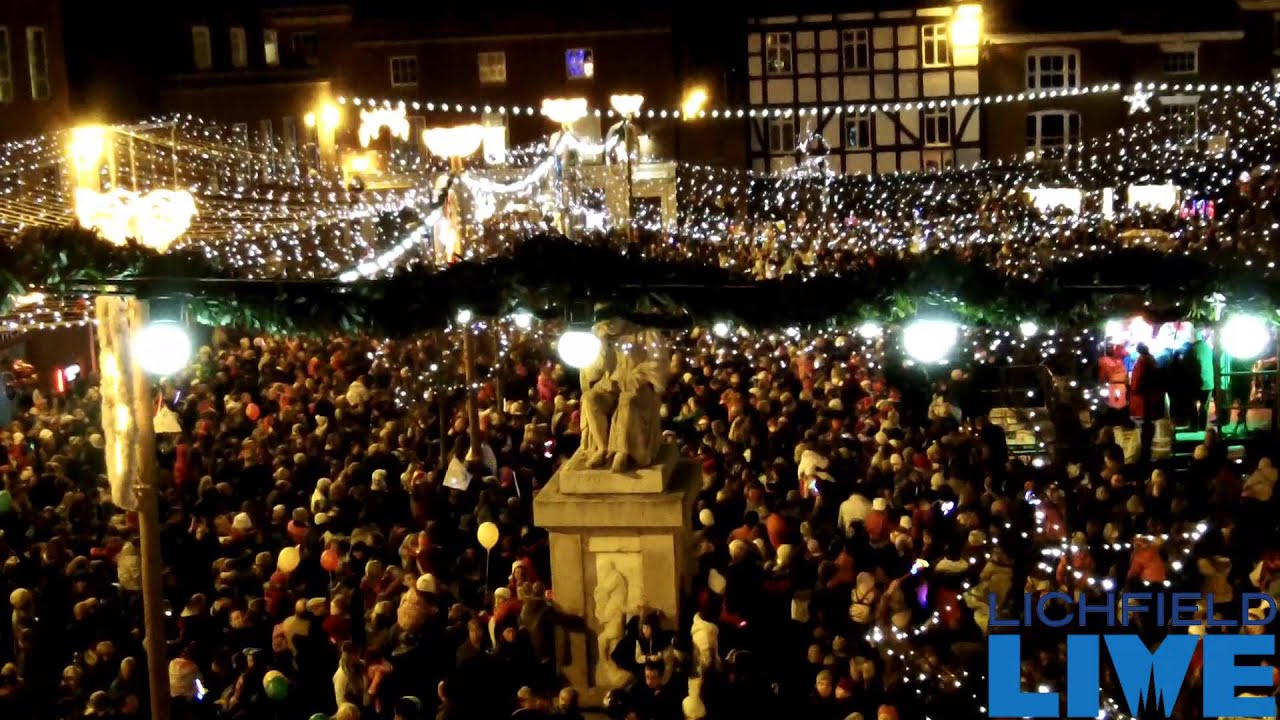 Lichfield Christmas Lights Switch On 2012 - YouTube