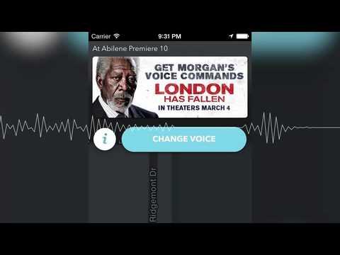 Morgan Freeman Voice For Waze GPS Navigation App (Example)