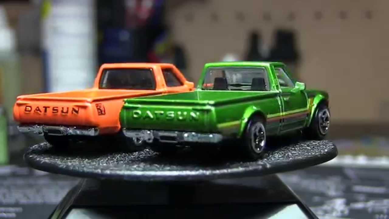 Hot Wheels   Datsun 620 Pickup In Orange  U0026 Green