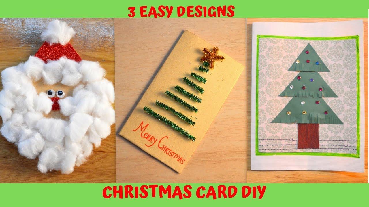 3 Easy Xmas Card Design Ideas Diy How
