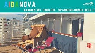 AIDAnova Spanner-Kabinen auf Deck 8 (Veranda Komfort VA - im hinteren Bereich) ✅